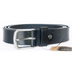 Kožený černý opasek 135 cm dlouhý z pevné kůže 30 mm široký