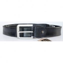 Černý kožený opasek šířka 39 mm, délka 125 cm s kapsou na zip v délce téměř celého opasku