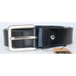 Černý hladký kožený opasek šířka 39 mm, délka 115 cm